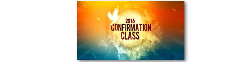 Confirmation Class 2016